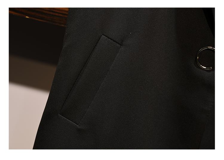 トップス アンサンブル ロングベスト Iライン モノトーン 秋 冬 春 PTXG323の写真12枚目