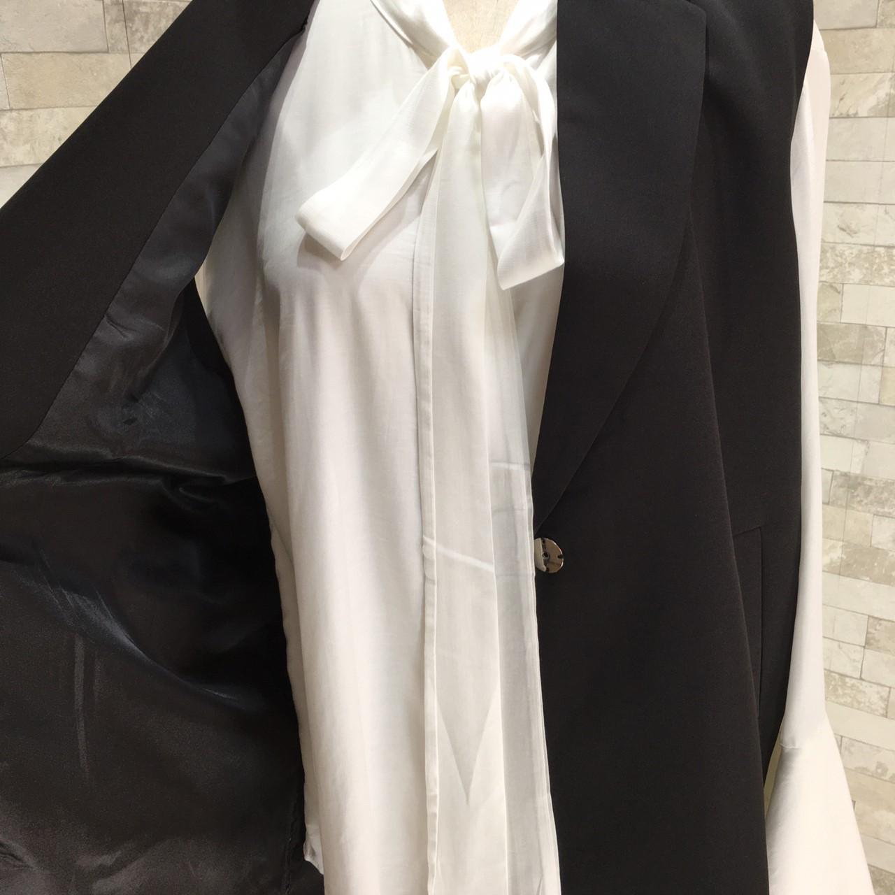 韓国 ファッション トップス アンサンブル 秋 冬 春 カジュアル PTXG324  ロングベスト Iライン シワ加工 袖コンシャス オルチャン シンプル 定番 セレカジの写真15枚目