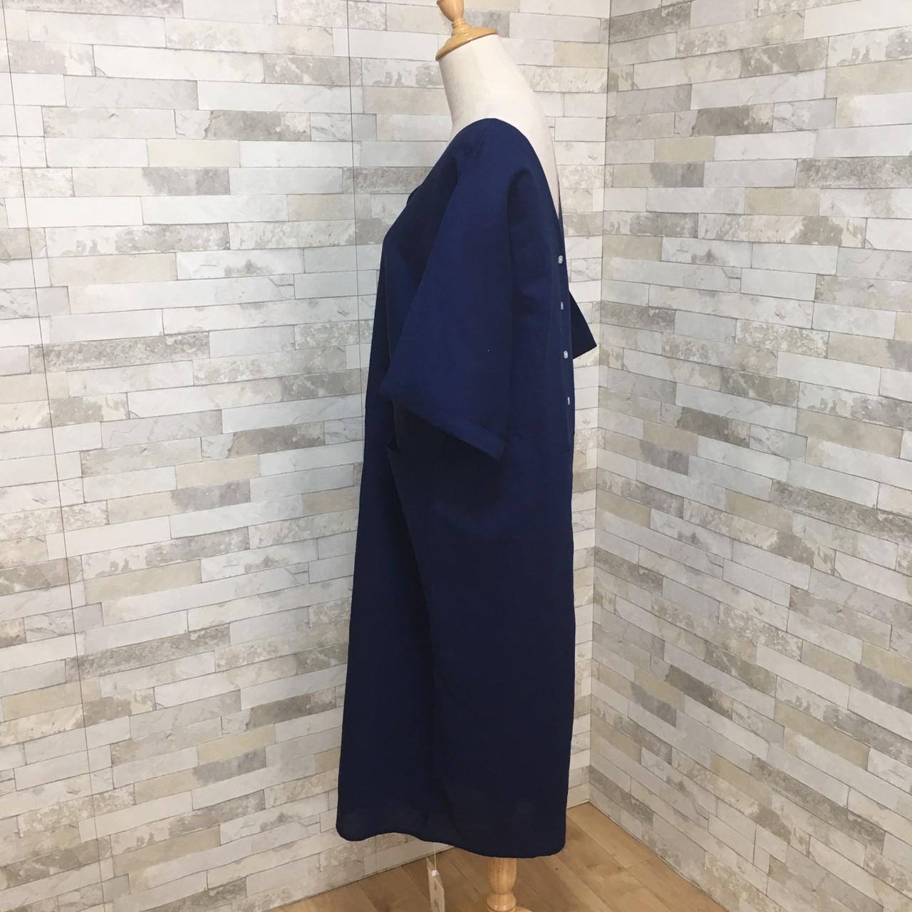 韓国 ファッション ワンピース 春 夏 秋 カジュアル PTXG330  チュラルテイスト リゾートワンピース リネン風 オルチャン シンプル 定番 セレカジの写真17枚目