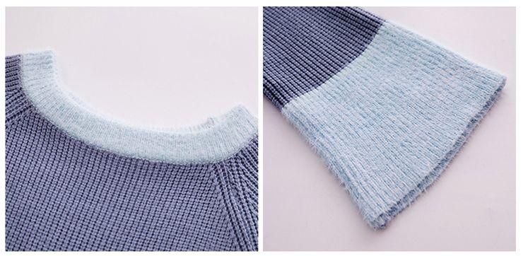 韓国 ファッション ワンピース 秋 冬 カジュアル PTXG360  ペールカラー ふわふわ ベルスリーブ リブ オルチャン シンプル 定番 セレカジの写真9枚目