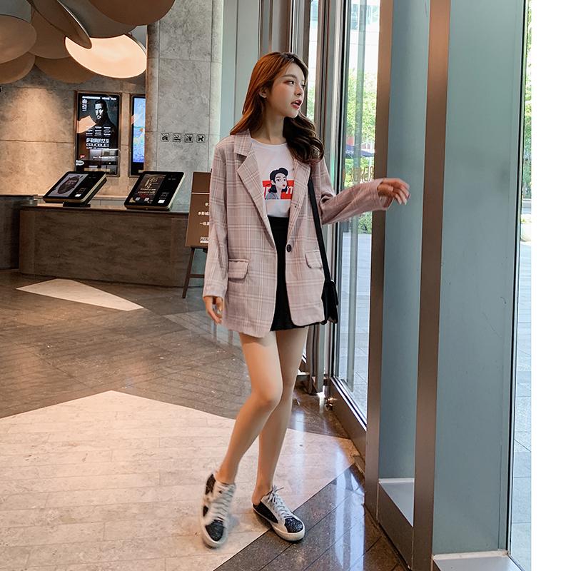 韓国 ファッション セットアップ 春 秋 冬 カジュアル PTXG375  ビッグシルエット プリーツスカート プレッピー オルチャン シンプル 定番 セレカジの写真3枚目
