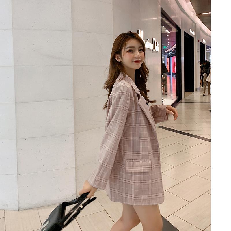 韓国 ファッション セットアップ 春 秋 冬 カジュアル PTXG375  ビッグシルエット プリーツスカート プレッピー オルチャン シンプル 定番 セレカジの写真5枚目
