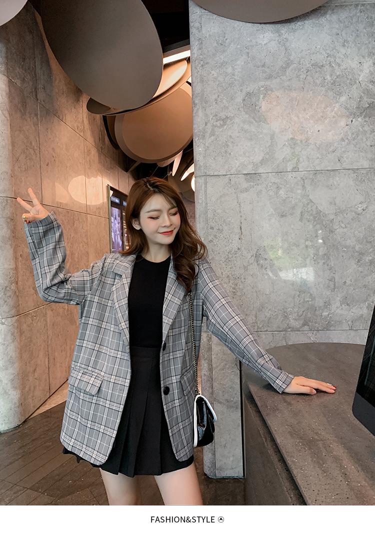 韓国 ファッション セットアップ 春 秋 冬 カジュアル PTXG375  ビッグシルエット プリーツスカート プレッピー オルチャン シンプル 定番 セレカジの写真8枚目