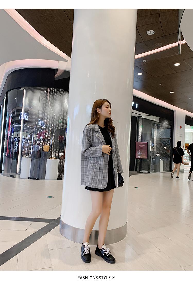 韓国 ファッション セットアップ 春 秋 冬 カジュアル PTXG375  ビッグシルエット プリーツスカート プレッピー オルチャン シンプル 定番 セレカジの写真10枚目