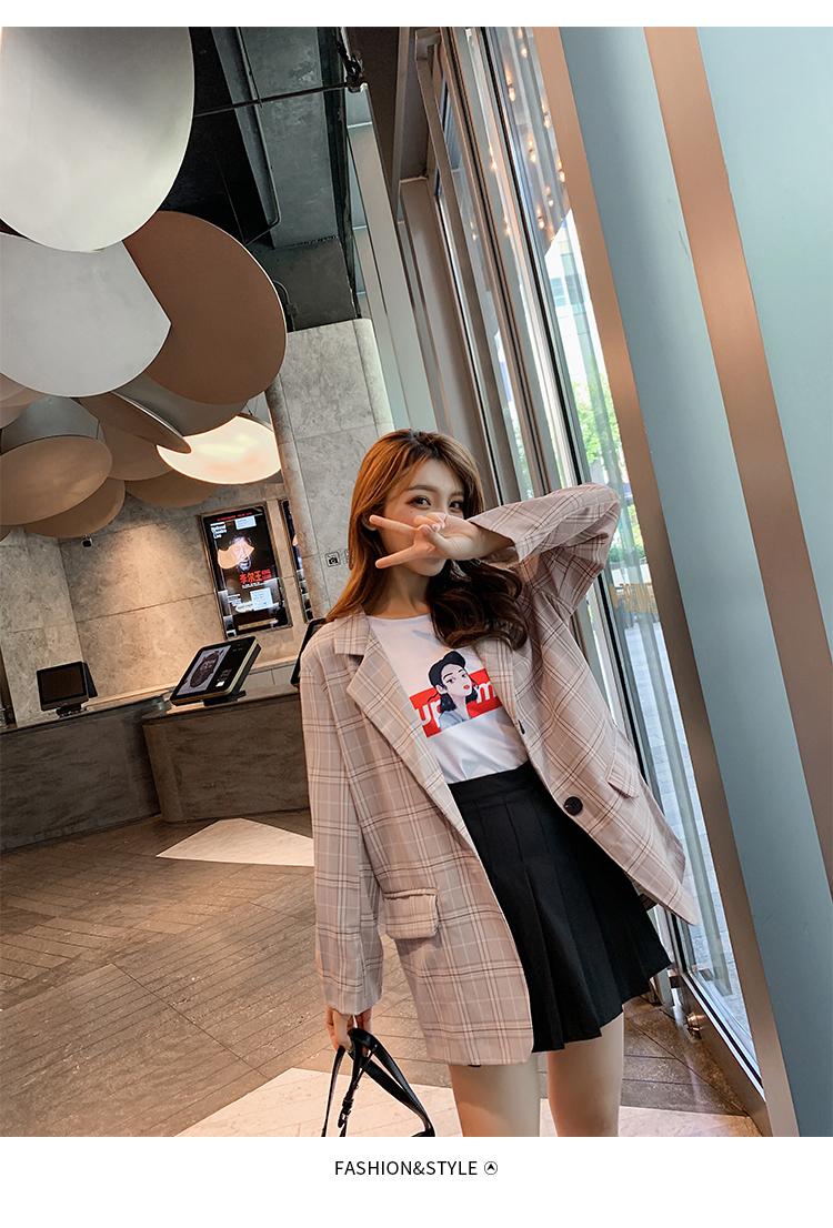 韓国 ファッション セットアップ 春 秋 冬 カジュアル PTXG375  ビッグシルエット プリーツスカート プレッピー オルチャン シンプル 定番 セレカジの写真13枚目