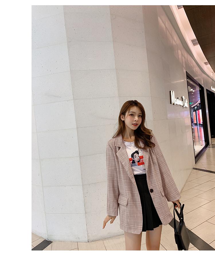 韓国 ファッション セットアップ 春 秋 冬 カジュアル PTXG375  ビッグシルエット プリーツスカート プレッピー オルチャン シンプル 定番 セレカジの写真14枚目