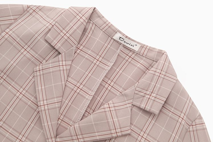 韓国 ファッション セットアップ 春 秋 冬 カジュアル PTXG375  ビッグシルエット プリーツスカート プレッピー オルチャン シンプル 定番 セレカジの写真17枚目