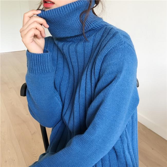 韓国 ファッション ワンピース 秋 冬 カジュアル PTXG412  リブニットワンピース ゆるタイト リラクシー オルチャン シンプル 定番 セレカジの写真17枚目