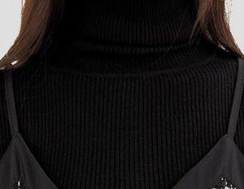カジュアルワンピース モノトーン ツイード風 切替 キャミワンピ 秋 冬 PTXG417の写真8枚目
