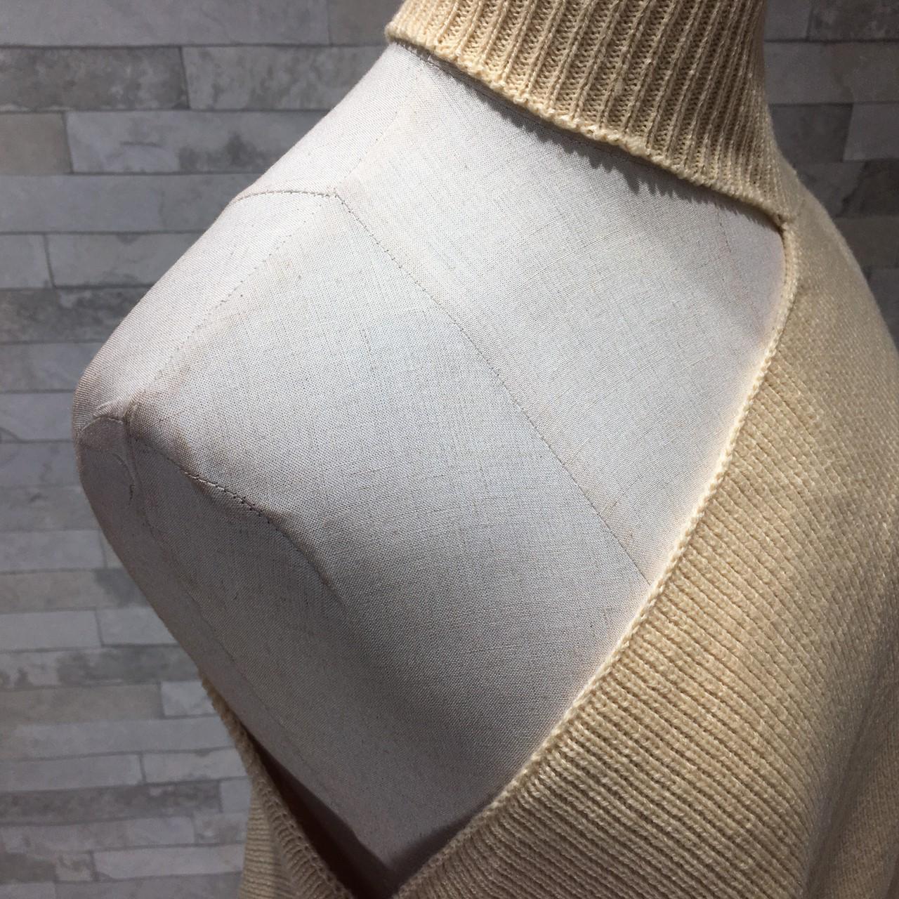 韓国 ファッション トップス ニット セーター 秋 冬 カジュアル PTXG443  アシンメトリー カットオフ 肌見せ リブニット オルチャン シンプル 定番 セレカジの写真9枚目