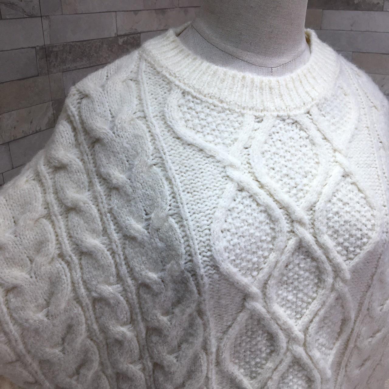 【即納】韓国 ファッション トップス ニット セーター 秋 冬 カジュアル SPTXG551  北欧風 模様編み ビッグシルエット 華奢見せ オルチャン シンプル 定番 セレカジの写真10枚目