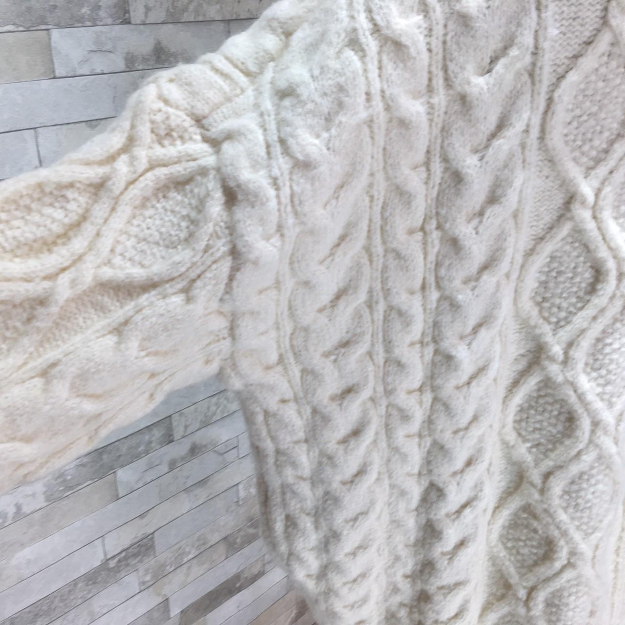 【即納】韓国 ファッション トップス ニット セーター 秋 冬 カジュアル SPTXG551  北欧風 模様編み ビッグシルエット 華奢見せ オルチャン シンプル 定番 セレカジの写真12枚目