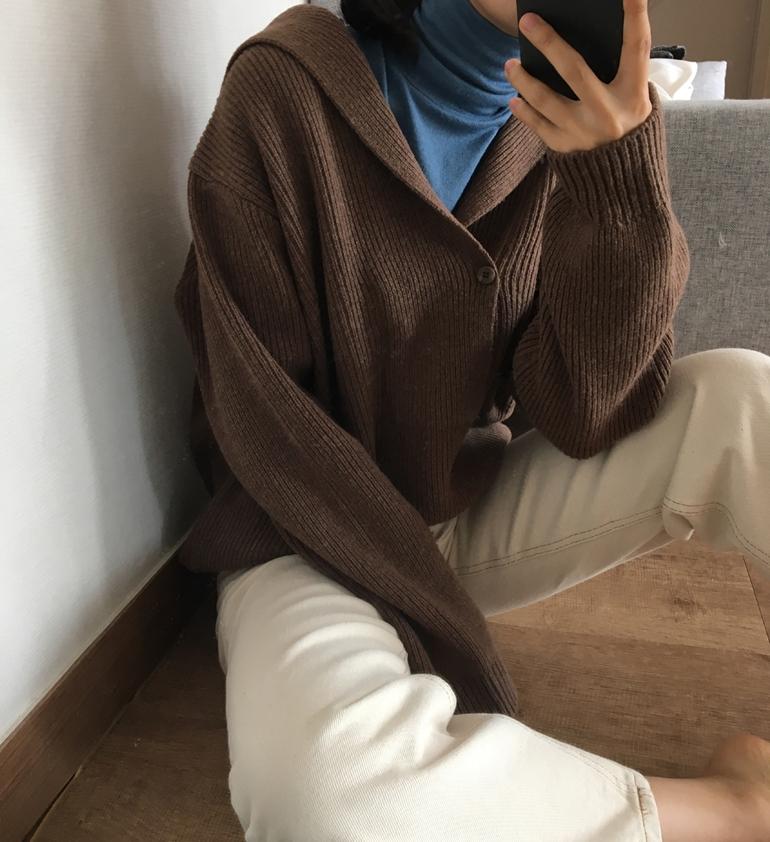 韓国 ファッション トップス ニット セーター 秋 冬 カジュアル PTXG554  セーラーカラー トラッド ナチュラルテイスト  オルチャン シンプル 定番 セレカジの写真13枚目