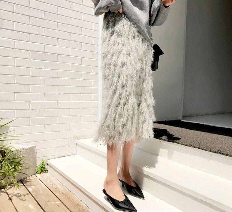 韓国 ファッション トップス ニット セーター 秋 冬 カジュアル PTXG559  アシンメトリー カットオフ リブ 華奢見せ オルチャン シンプル 定番 セレカジの写真20枚目