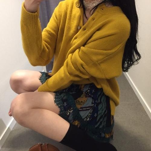 韓国 ファッション トップス ニット セーター 秋 冬 カジュアル PTXG574  ベイクドカラー ビッグシルエット リブニット オルチャン シンプル 定番 セレカジの写真4枚目