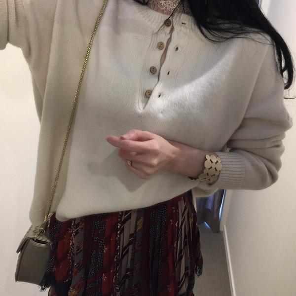 韓国 ファッション トップス ニット セーター 秋 冬 カジュアル PTXG574  ベイクドカラー ビッグシルエット リブニット オルチャン シンプル 定番 セレカジの写真10枚目