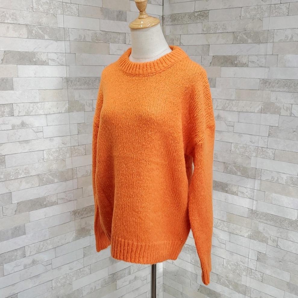 韓国 ファッション トップス ニット セーター 秋 冬 カジュアル PTXG609  ビタミンカラー ビッグシルエット リブ 着回し オルチャン シンプル 定番 セレカジの写真5枚目