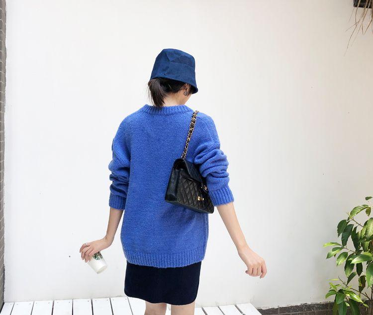 韓国 ファッション トップス ニット セーター 秋 冬 カジュアル PTXG609  ビタミンカラー ビッグシルエット リブ 着回し オルチャン シンプル 定番 セレカジの写真11枚目