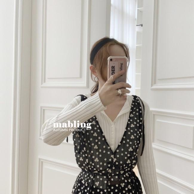 韓国 ファッション トップス Tシャツ カットソー 秋 冬 カジュアル PTXG639  ベーシック リブニット カーディガン 着回し オルチャン シンプル 定番 セレカジの写真3枚目