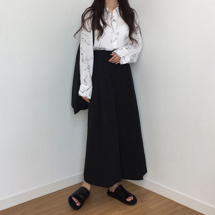 韓国 ファッション ワンピース 秋 冬 春 カジュアル PTXG663  プルオーバー ワイド スカーチョ ガウチョ オルチャン シンプル 定番 セレカジの写真3枚目