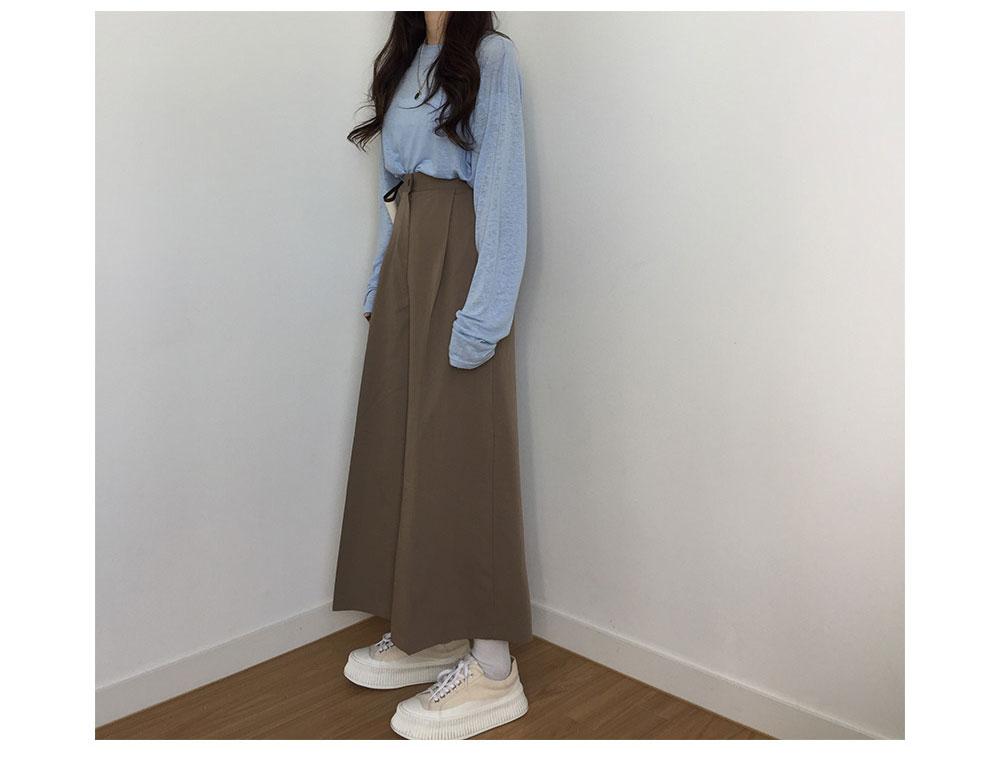 韓国 ファッション ワンピース 秋 冬 春 カジュアル PTXG663  プルオーバー ワイド スカーチョ ガウチョ オルチャン シンプル 定番 セレカジの写真11枚目