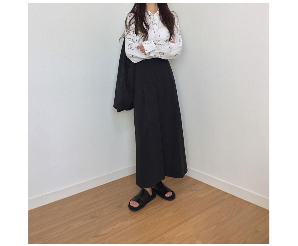 韓国 ファッション ワンピース 秋 冬 春 カジュアル PTXG663  プルオーバー ワイド スカーチョ ガウチョ オルチャン シンプル 定番 セレカジの写真17枚目