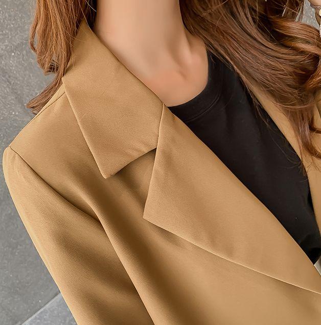 韓国 ファッション セットアップ 秋 冬 春 カジュアル PTXG699  ショートジャケット ハイライズ ワイドパンツ オルチャン シンプル 定番 セレカジの写真19枚目