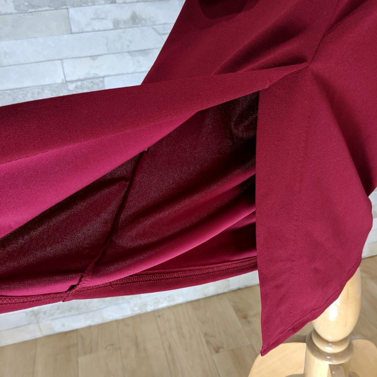 韓国 ファッション ワンピース パーティードレス ひざ丈 ミディアム 秋 冬 パーティー ブライダル PTXG848 結婚式 お呼ばれ ドレープ 肌見せ レイヤード風 ベーシ 二次会 セレブ きれいめの写真20枚目