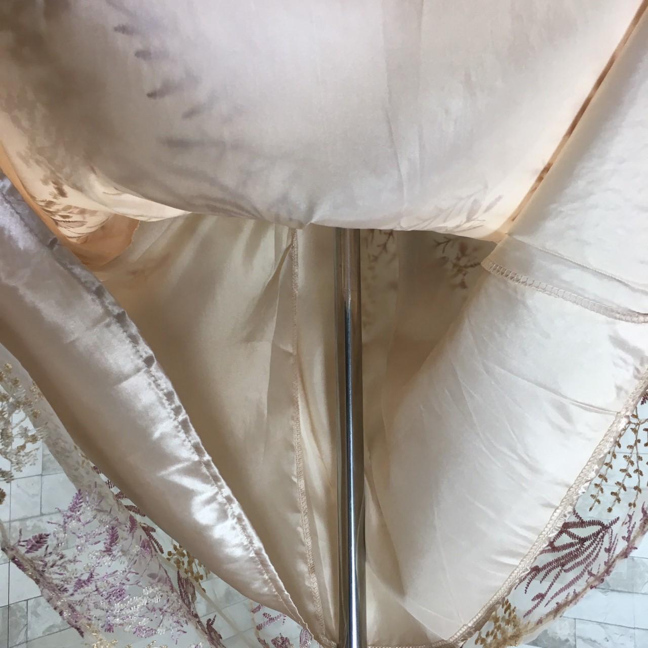 韓国 ファッション ワンピース パーティードレス ロング マキシ 春 夏 秋 パーティー ブライダル PTXG855 結婚式 お呼ばれ シースルー 光沢 ハイウエスト セミフ 二次会 セレブ きれいめの写真20枚目