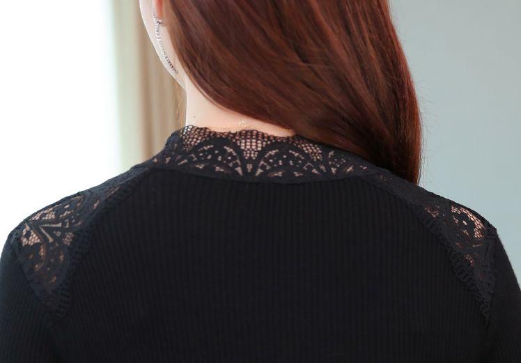 韓国 ファッション ワンピース パーティードレス ロング マキシ 秋 冬 パーティー ブライダル PTXG860 結婚式 お呼ばれ シースルー オフショルダー風 リブニット  二次会 セレブ きれいめの写真18枚目