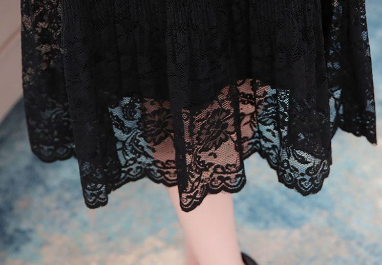韓国 ファッション ワンピース パーティードレス ロング マキシ 秋 冬 パーティー ブライダル PTXG860 結婚式 お呼ばれ シースルー オフショルダー風 リブニット  二次会 セレブ きれいめの写真20枚目