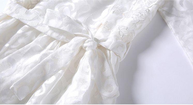 韓国 ファッション ワンピース パーティードレス ロング マキシ 秋 冬 春 パーティー ブライダル PTXG864 結婚式 お呼ばれ オーナメント柄 シースルー ハイウエス 二次会 セレブ きれいめの写真18枚目