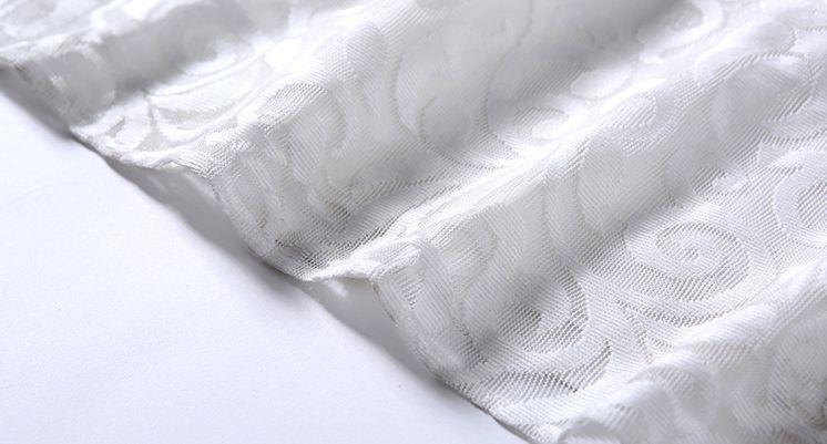 韓国 ファッション ワンピース パーティードレス ロング マキシ 秋 冬 春 パーティー ブライダル PTXG864 結婚式 お呼ばれ オーナメント柄 シースルー ハイウエス 二次会 セレブ きれいめの写真20枚目