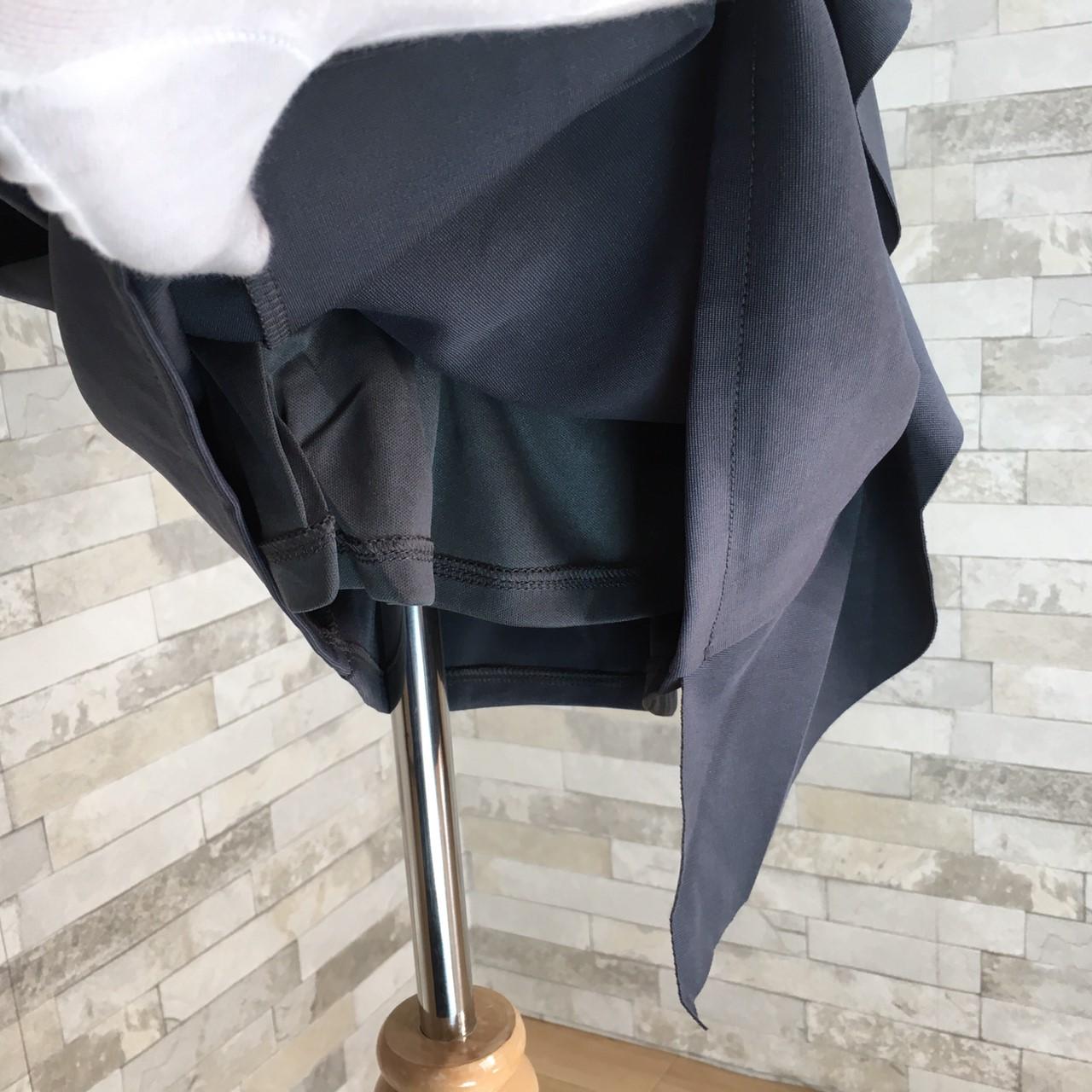 韓国 ファッション ワンピース パーティードレス ショート ミニ丈 秋 冬 パーティー ブライダル PTXG865 結婚式 お呼ばれ シースルー アシンメトリー ラッフル タ 二次会 セレブ きれいめの写真20枚目