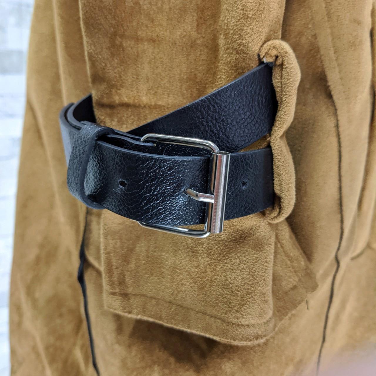 【即納】韓国 ファッション アウター レザージャケット コート 秋 冬 パーティー ブライダル SPTXG910  革ベルト風 エコスエード ジャケット ショート 二次会 セレブ きれいめの写真11枚目