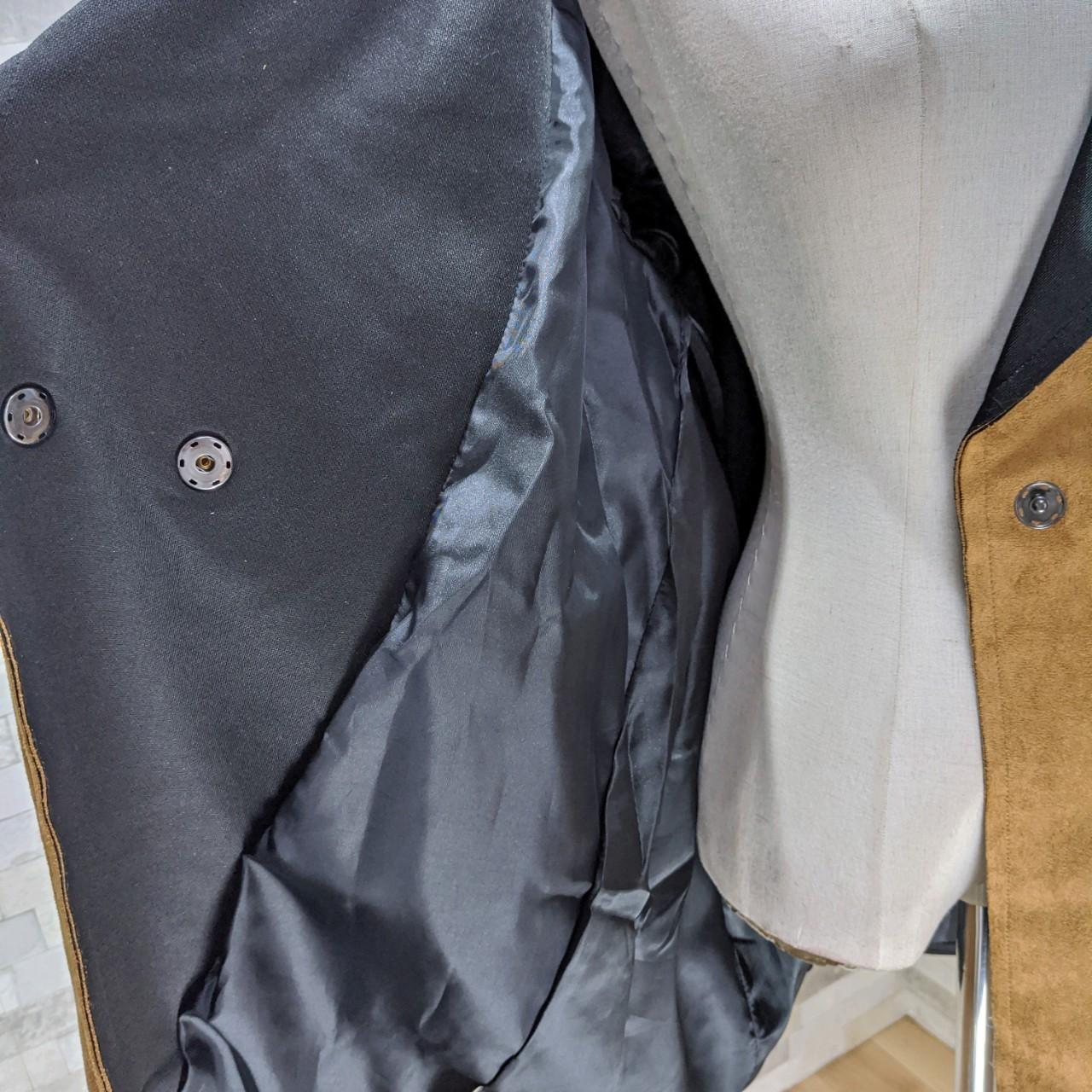 【即納】韓国 ファッション アウター レザージャケット コート 秋 冬 パーティー ブライダル SPTXG910  革ベルト風 エコスエード ジャケット ショート 二次会 セレブ きれいめの写真12枚目
