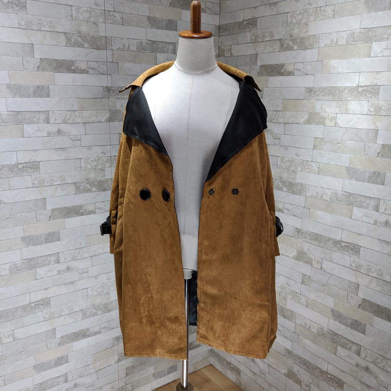 【即納】韓国 ファッション アウター レザージャケット コート 秋 冬 パーティー ブライダル SPTXG910  革ベルト風 エコスエード ジャケット ショート 二次会 セレブ きれいめの写真14枚目