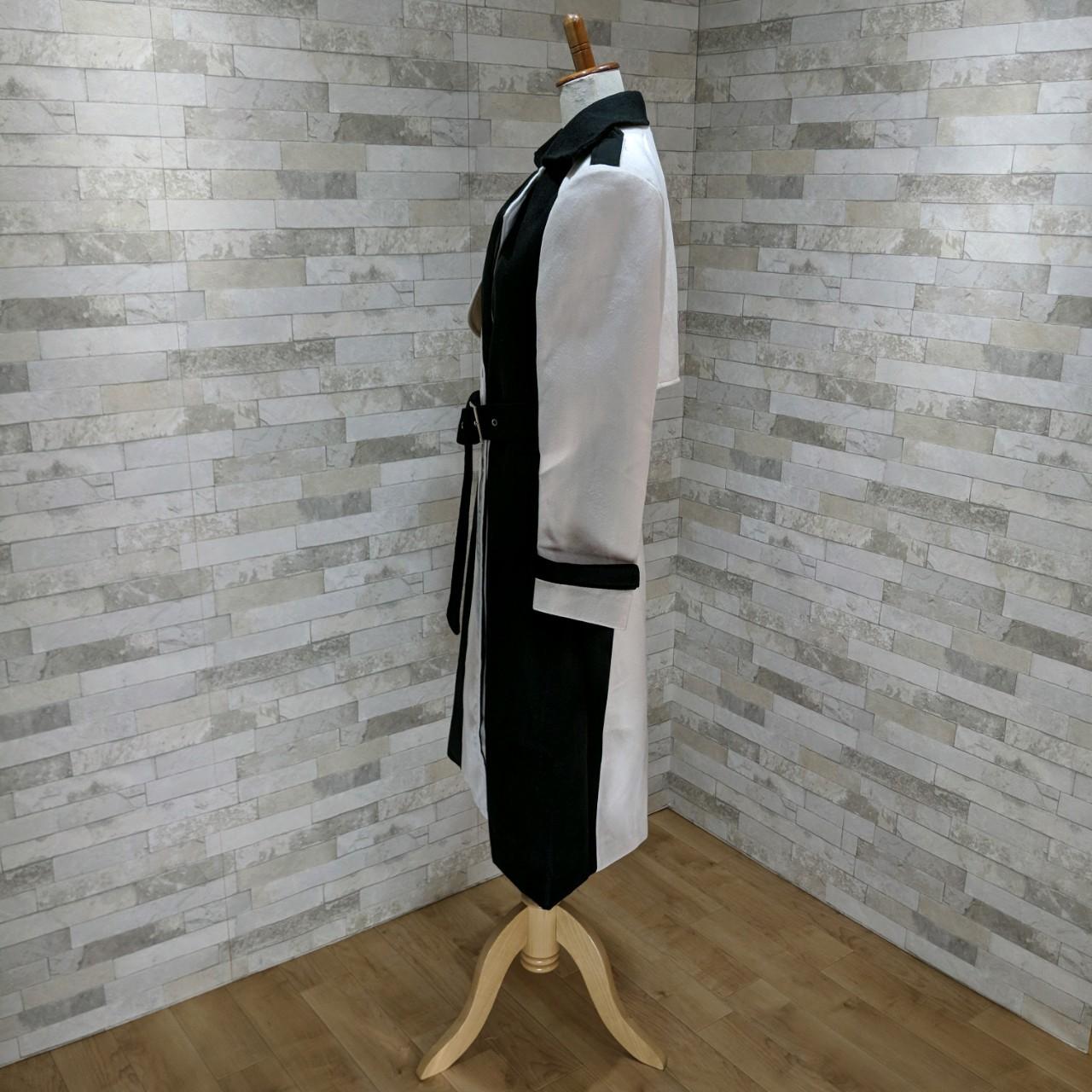 【即納】韓国 ファッション アウター コート 秋 冬 パーティー ブライダル SPTXG918  ミリタリー調 バイカラー アシンメトリー 二次会 セレブ きれいめの写真9枚目
