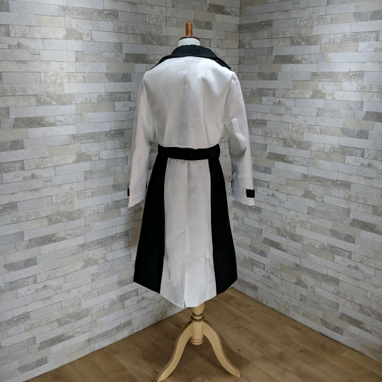 【即納】韓国 ファッション アウター コート 秋 冬 パーティー ブライダル SPTXG918  ミリタリー調 バイカラー アシンメトリー 二次会 セレブ きれいめの写真10枚目