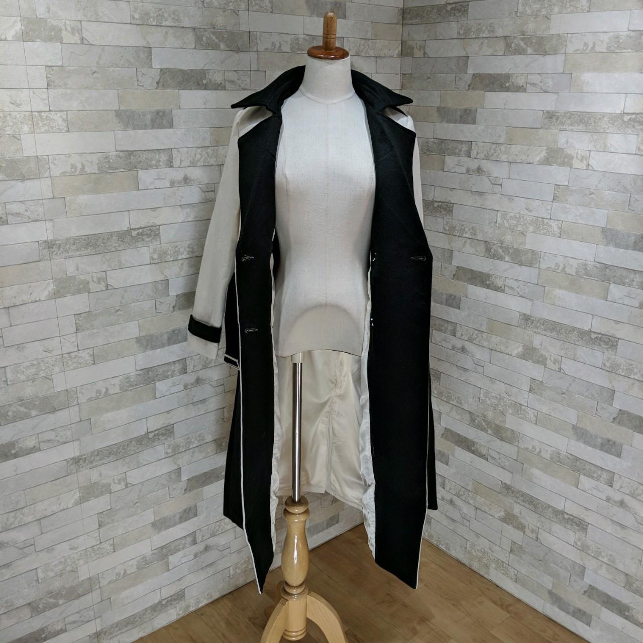 【即納】韓国 ファッション アウター コート 秋 冬 パーティー ブライダル SPTXG918  ミリタリー調 バイカラー アシンメトリー 二次会 セレブ きれいめの写真11枚目