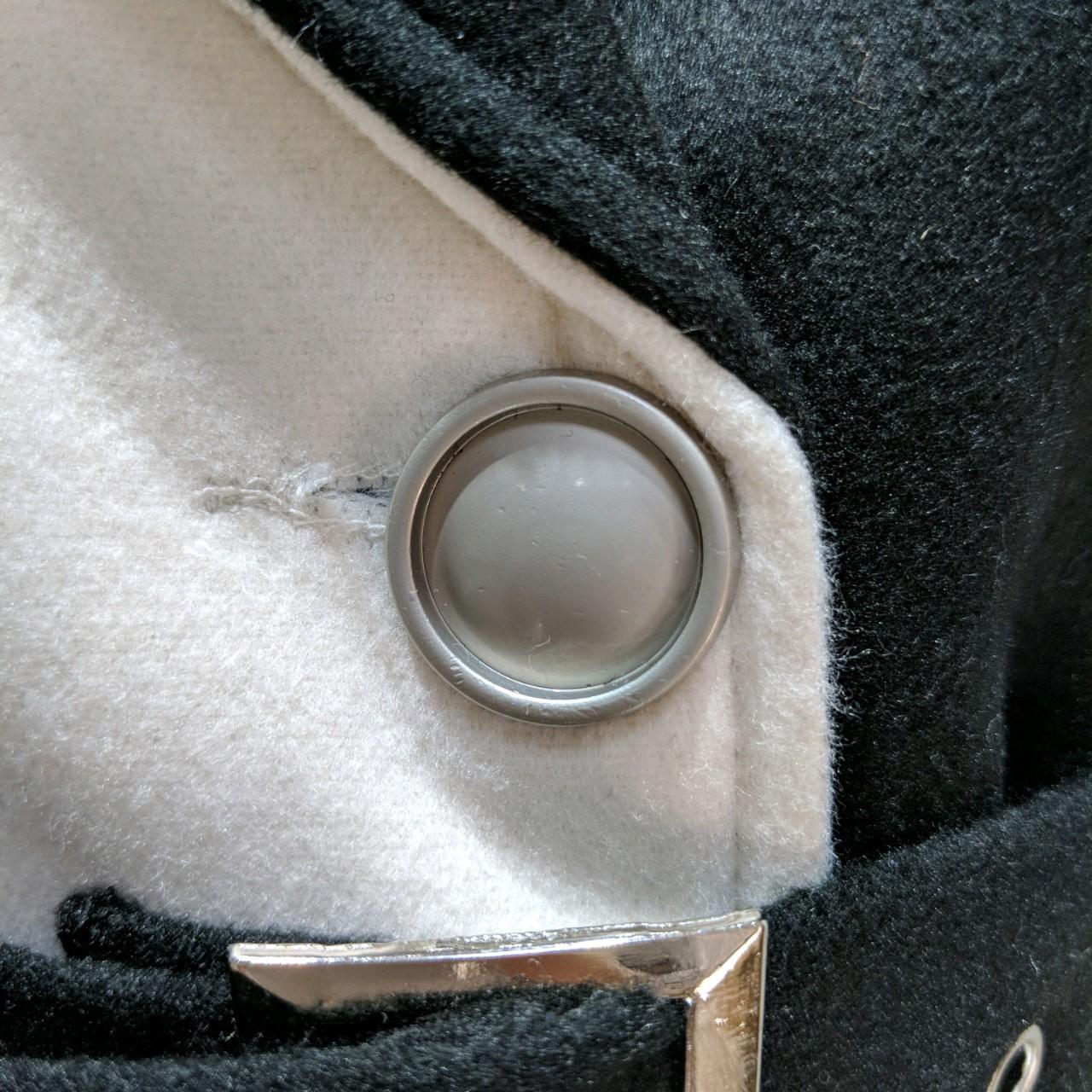 【即納】韓国 ファッション アウター コート 秋 冬 パーティー ブライダル SPTXG918  ミリタリー調 バイカラー アシンメトリー 二次会 セレブ きれいめの写真14枚目