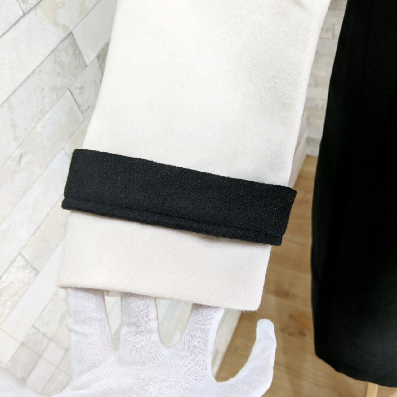 【即納】韓国 ファッション アウター コート 秋 冬 パーティー ブライダル SPTXG918  ミリタリー調 バイカラー アシンメトリー 二次会 セレブ きれいめの写真15枚目
