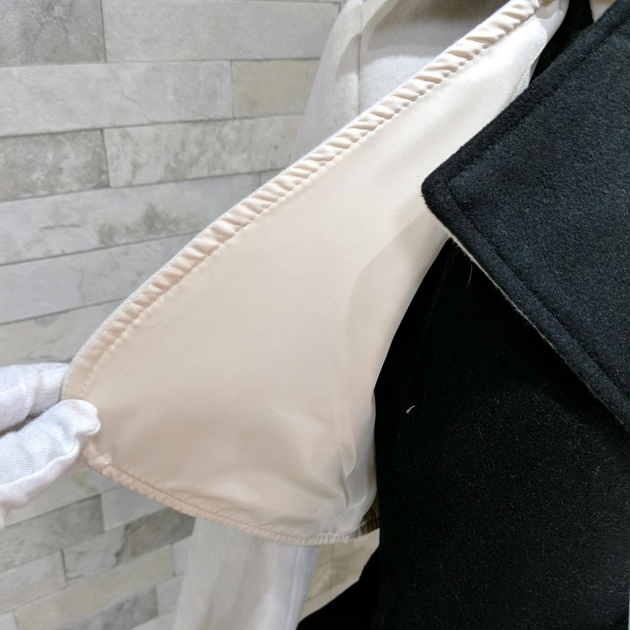 【即納】韓国 ファッション アウター コート 秋 冬 パーティー ブライダル SPTXG918  ミリタリー調 バイカラー アシンメトリー 二次会 セレブ きれいめの写真17枚目