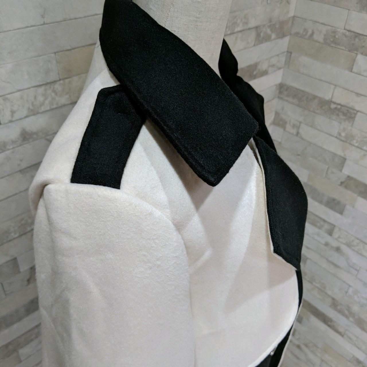 【即納】韓国 ファッション アウター コート 秋 冬 パーティー ブライダル SPTXG918  ミリタリー調 バイカラー アシンメトリー 二次会 セレブ きれいめの写真19枚目