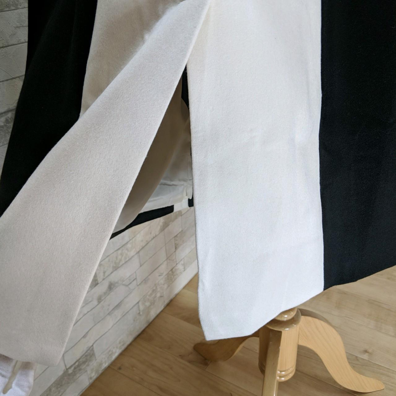 【即納】韓国 ファッション アウター コート 秋 冬 パーティー ブライダル SPTXG918  ミリタリー調 バイカラー アシンメトリー 二次会 セレブ きれいめの写真20枚目