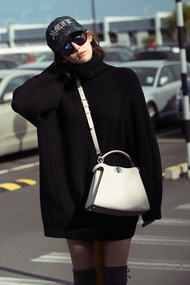韓国 ファッション トップス ニット セーター 秋 冬 カジュアル PTXG960  ゆるタートル ビッグシルエット ミニワンピ風 オルチャン シンプル 定番 セレカジの写真8枚目