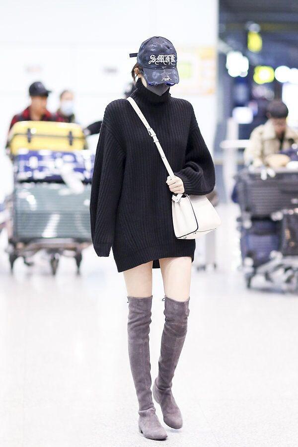 韓国 ファッション トップス ニット セーター 秋 冬 カジュアル PTXG960  ゆるタートル ビッグシルエット ミニワンピ風 オルチャン シンプル 定番 セレカジの写真10枚目