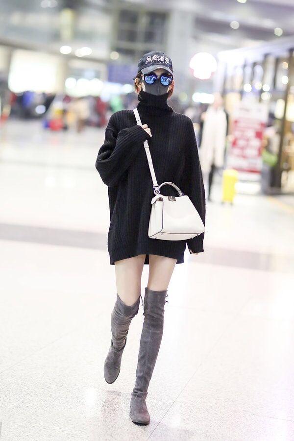 韓国 ファッション トップス ニット セーター 秋 冬 カジュアル PTXG960  ゆるタートル ビッグシルエット ミニワンピ風 オルチャン シンプル 定番 セレカジの写真12枚目