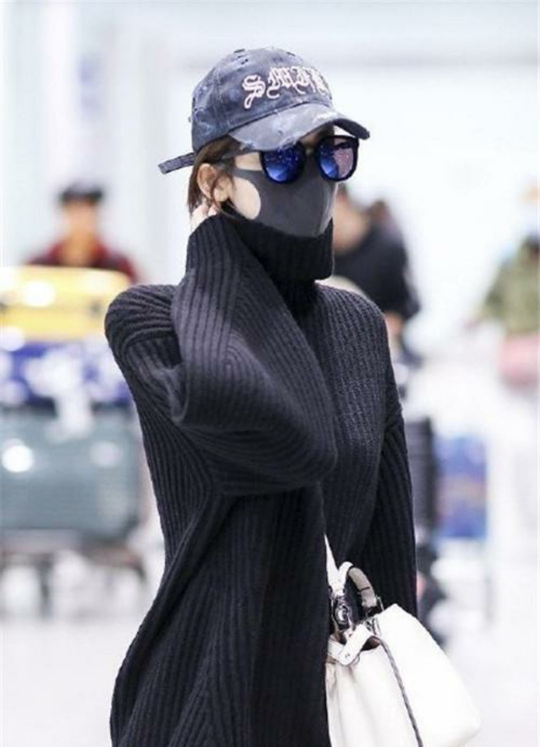 韓国 ファッション トップス ニット セーター 秋 冬 カジュアル PTXG960  ゆるタートル ビッグシルエット ミニワンピ風 オルチャン シンプル 定番 セレカジの写真13枚目