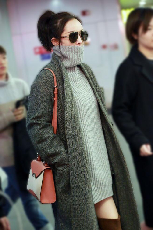 韓国 ファッション トップス ニット セーター 秋 冬 カジュアル PTXG960  ゆるタートル ビッグシルエット ミニワンピ風 オルチャン シンプル 定番 セレカジの写真15枚目